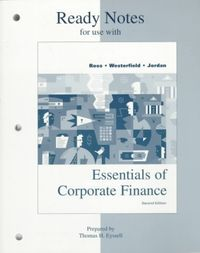 Ready Notes for Use With Essentials of Corporate Finance