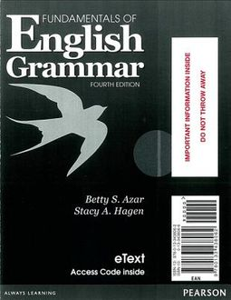 Understanding and Using English Grammar Myenglishlab - Azar