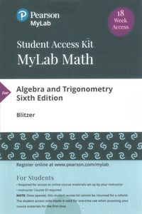 Algebra and Trigonometry MyLab Math Access Code