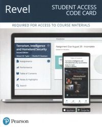 Terrorism, Intelligence and Homeland Security Revel Access Code Card