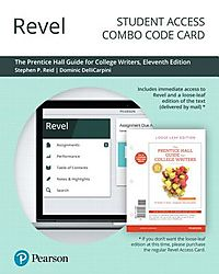 Revel for the Prentice Hall Guide for College Writers Access Card