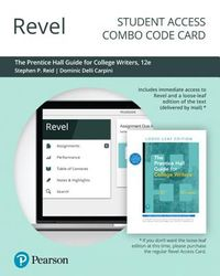 Revel for the Prentice Hall Guide for College Writers -- Combo Access Card