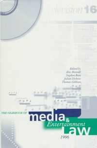 Yearbook of Media and Entertainment Law, 1996