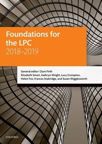 Foundations for the LPC, 2018-2019