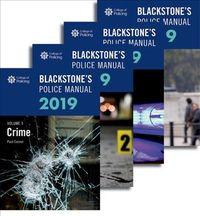 Blackstone's Police Manuals 2019