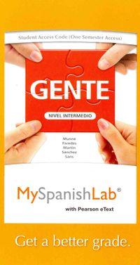Gente MySpanishLab Access Code