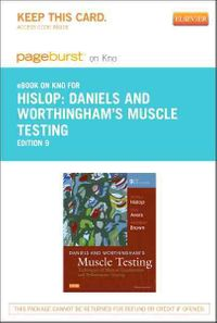 Daniels & Worthingham's Muscle Testing Pageburst on Kno Access Code