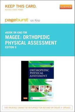 Orthopedic Physical Assessment Pageburst E-book on Kno Retail Access Card