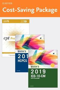 Buck's ICD-10-CM for Physician 2019 8th Ed. + Buck's HCPCS 2019, 20th Professional Ed. + AMA CPT 2019 4th Revised, Professional Edition