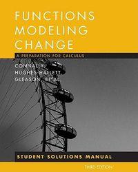 Functons Modeling Change