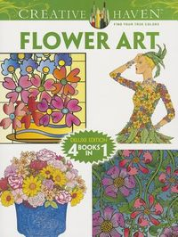 Flower Art Adult Coloring Book