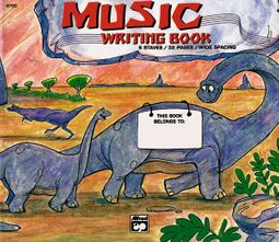 Alfred's Basic Music Writing Book, Wide Lines
