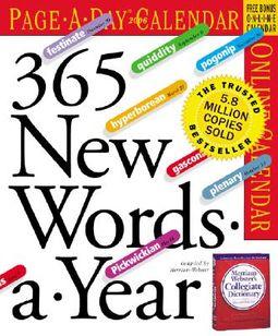 365 New Words-A-Year 2006 Calendar