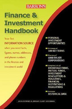 Dictionary Of Finance And Investment Terms Downes John Goodman Jordan Elliot 9781438010441 Hpb