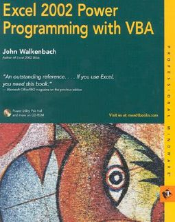 Excel 2002 Power Programming With Vba