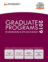 Peterson's Graduate Programs in Engineering & Applied Sciences 2019