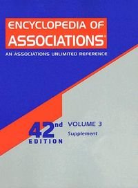 Encyclopedia Of Associations Supplement