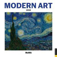 Modern Art 2019 Calendar