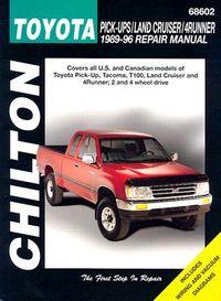 Chilton's Toyota Pick-Ups/Land Cruiser/4Runner 1989-96 Repair Manual