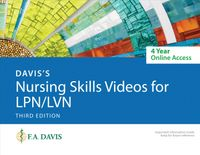 Davis's Nursing Skills Videos for Lpn/Lvn 4-year Online Access Card