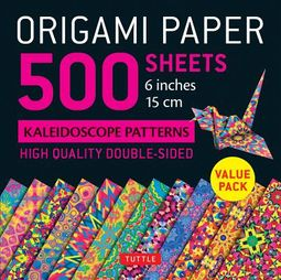 "Origami Paper - 500 Sheets Kaleidoscope Patterns- 6"" (15 Cm)"