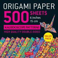 "Origami Paper - 500 Sheets Kaleidoscope Patterns- 6"" (15 Cm)"