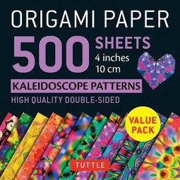 Origami Paper 500 Sheets Kaleidoscope Patterns 4 Inches 10 Cm