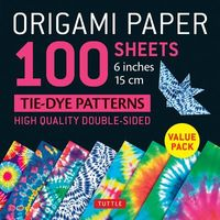 Origami Paper 100 Sheets Tie-Dye Patterns 6 Inch - 15cm