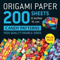 Origami Paper 200 Sheets Candy Patterns 6 Inch