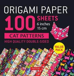 Origami Paper 100 Sheets Cat Patterns 6 Inches