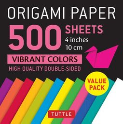 Origami Paper 500 Sheets Vibrant Colors 4 Inch