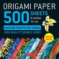Origami Paper 500 Sheets Nature Photo Patterns 6 Inches