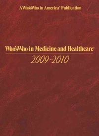 Who's Who in Medicine and Healthcare 2009-2010