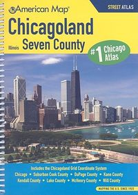 American Map Chicagoland IL Seven County Atlas