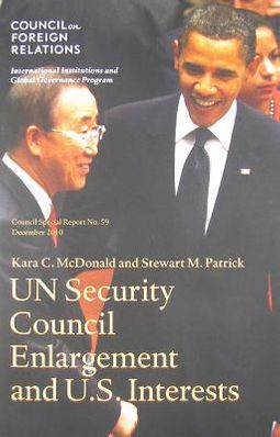 UN Security Council Enlargement and U.S. National Interests
