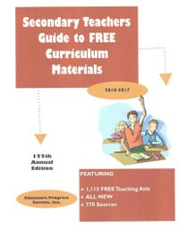 Secondary Teachers Guide to Free Curriculum Materials 2016-2017