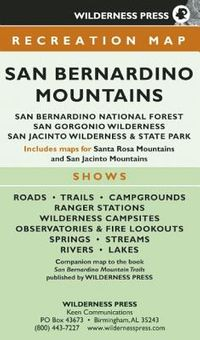 Map San Bernardino Mountains