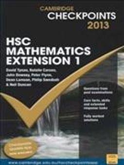 Cambridge Checkpoints Hsc Mathematics Extension 1 2013