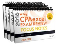 Wiley Cpaexcel Exam Review July 2016 Focus Notes Set