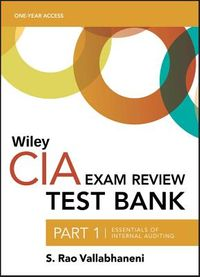 Wiley CIA Test Bank, 2019 1-year Access Card