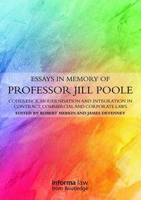 Essays in Memory of Professor Jill Poole