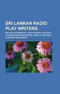 Sri Lankan Radio Play Writers