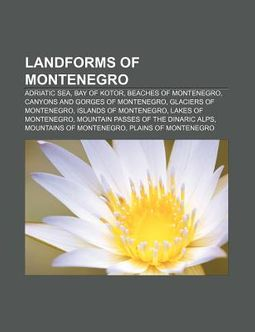 Landforms of Montenegro