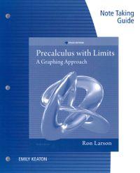 Precalculus With Limits by Larson, Ron/ Hostetler, Robert P / Edwards,  Bruce H / Falvo, David C