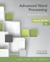 Advanced Word Processing Microsoft Word 2016