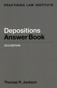 Depositions Answer Book 2019