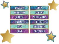 Galaxy Months of the Year Mini Bulletin Board Set
