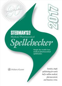 Stedman's Plus Medical / Pharmaceutical Spellchecker 2017
