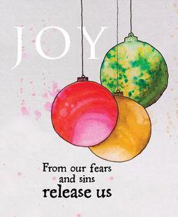 Joy Ornament Advent Bulletin, Large