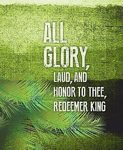 All Glory Palm Sunday Images Bulletin, Large